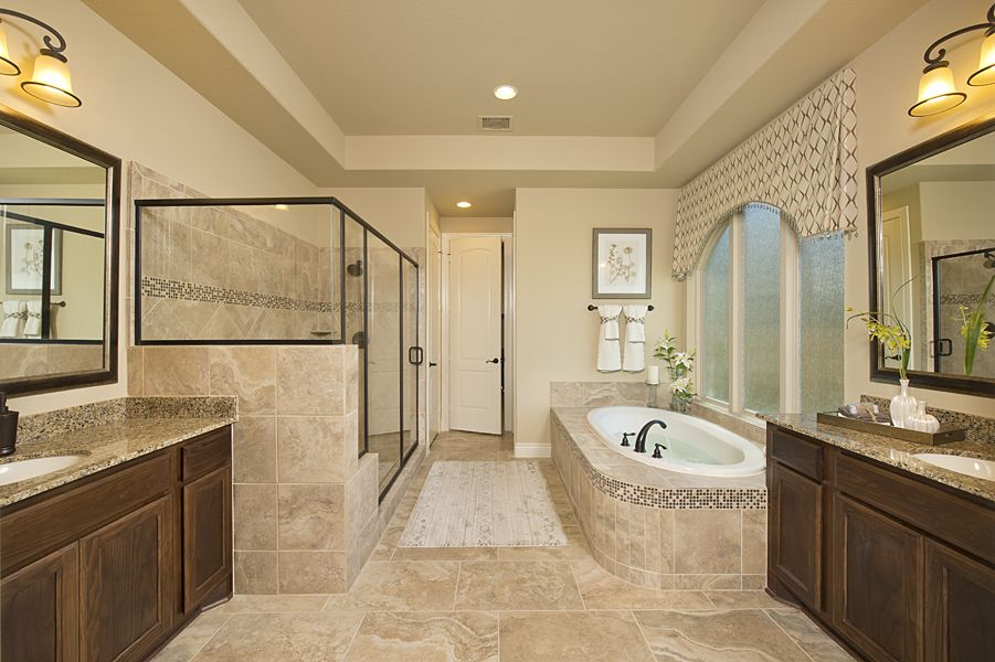 Model Home Bathroom firethorne model home - design 4931s - master bathroom | new