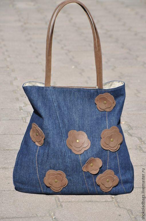 e679f59d65c8 Женские сумки ручной работы. Ярмарка Мастеров - ручная работа. Купить Джинсовая  сумка с кожей