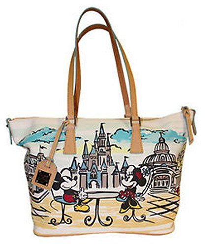 Disneyland Minnie and Mickey Mouse and Cinderella/'s Castle Tote Bag