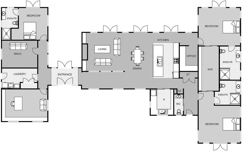 Tetley Signature Homes Cabin House Plans Home Design Floor Plans Architectural Floor Plans