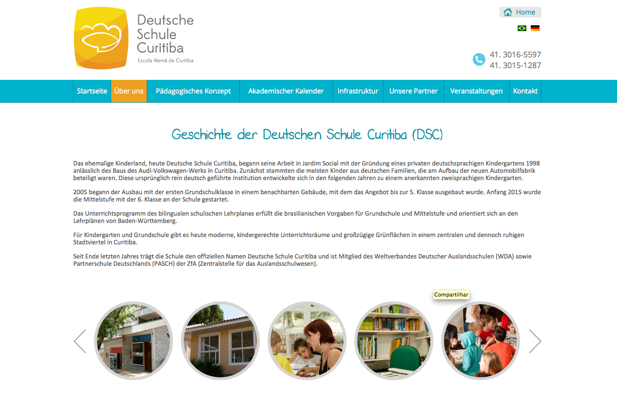 lovely website for german school in curitiba