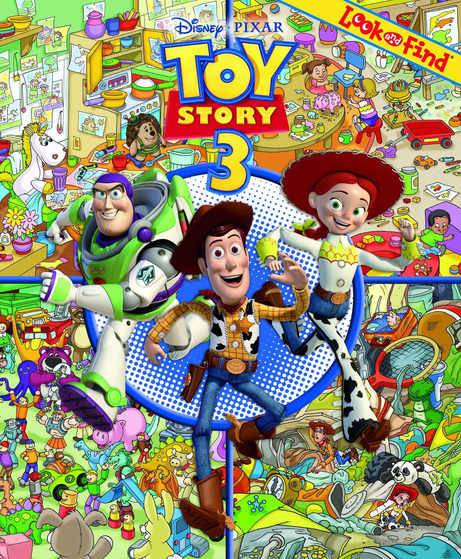 toy story book with figures