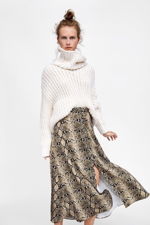 Mitad de precio oficial última venta Falda estampado serpiente | a/w 2018 en 2019 | Faldas largas ...