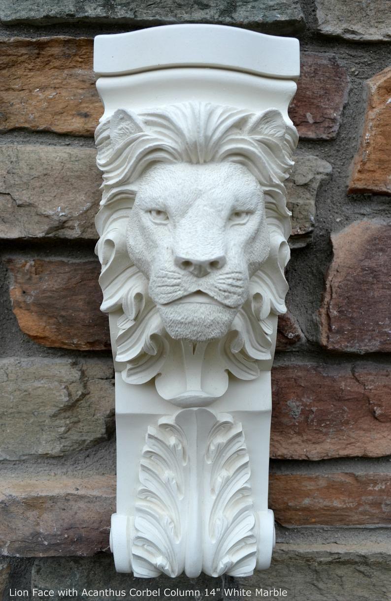 1 Architectural flower ornate plaster corbel bracket shelf wall decor plaque new