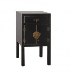 Mesita auxiliar oriente negro oro muebles chinos y orientales en tu tienda - Muebles orientales madrid ...