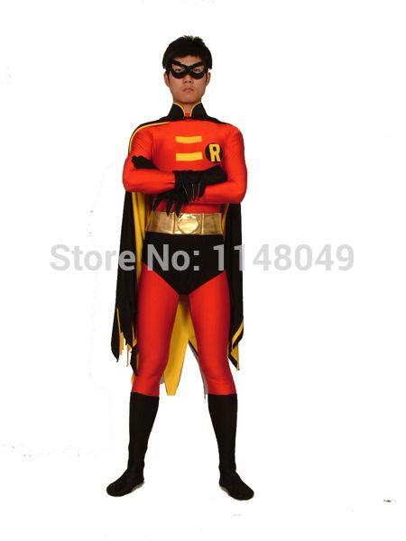 Click to Buy u003cu003c Free Shipping Robin Spandex Costume Batman Superhero Costume with  sc 1 st  Pinterest & Click to Buy u003cu003c Free Shipping Robin Spandex Costume Batman Superhero ...