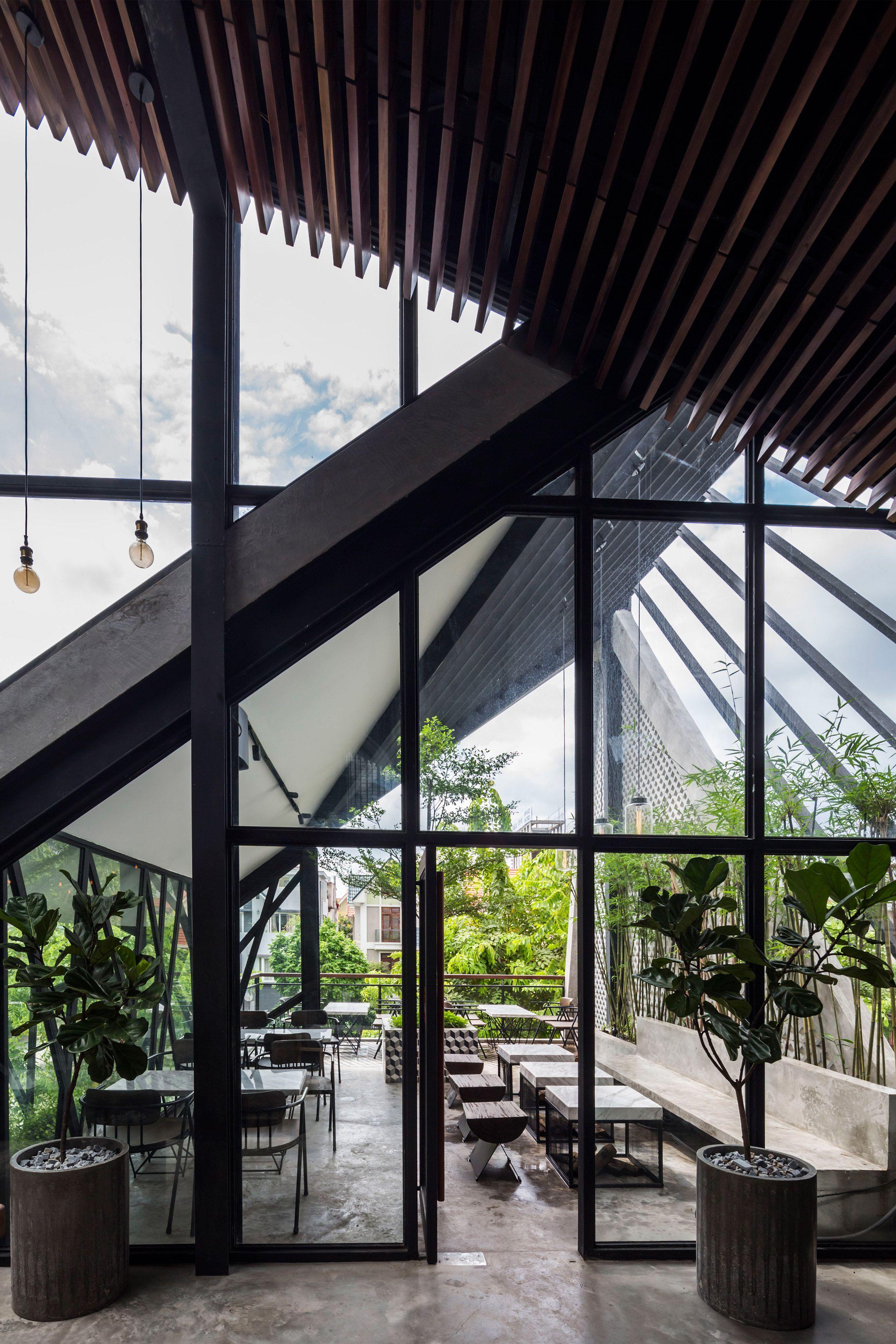 An Garden Cafe By Le House Cafe House Garden Cafe Architecture