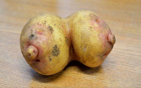 Patatas con forma de pechos