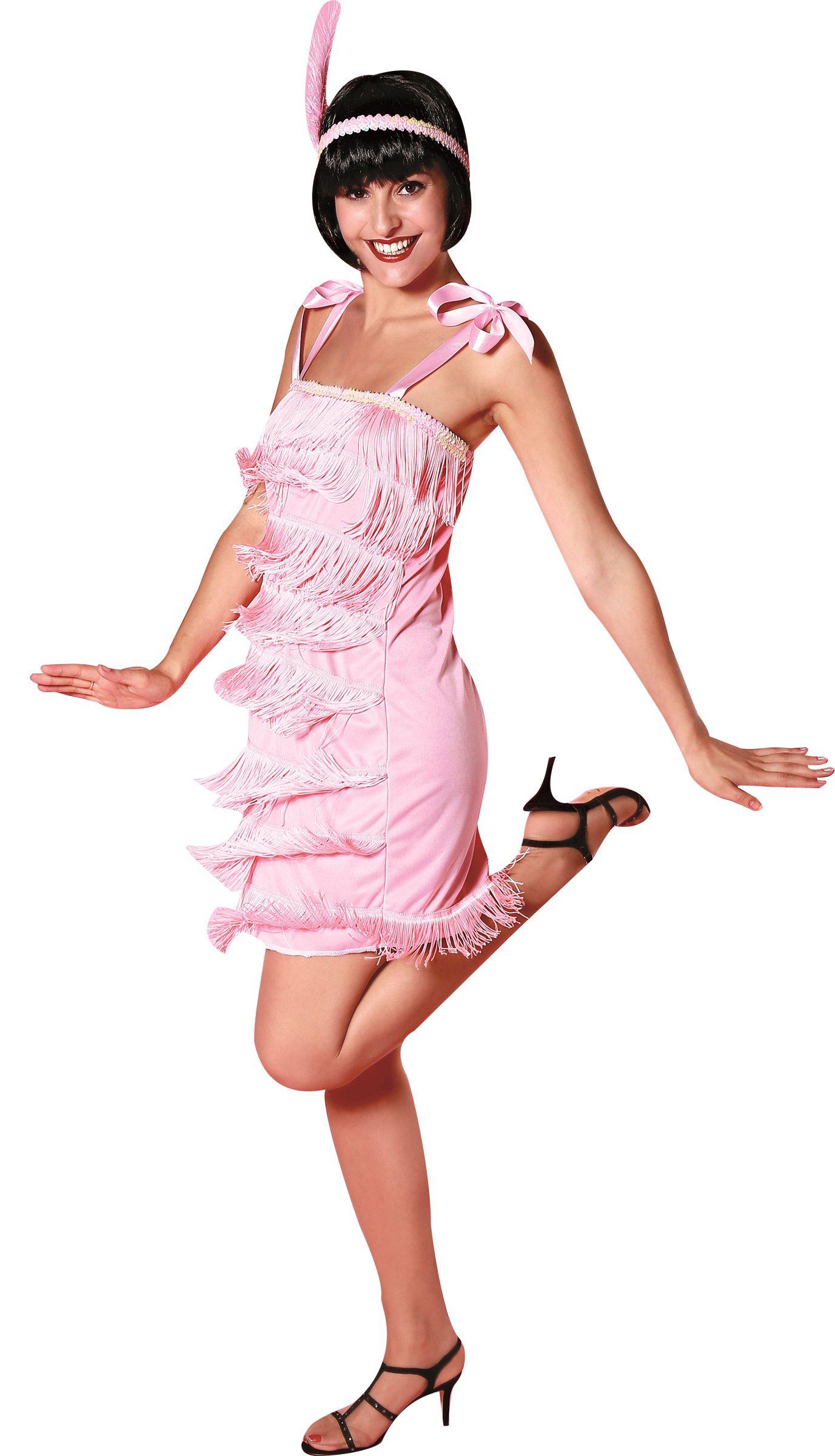 Disfraz años 20 rosa claro mujer Disponible en http://www.vegaoo.es ...