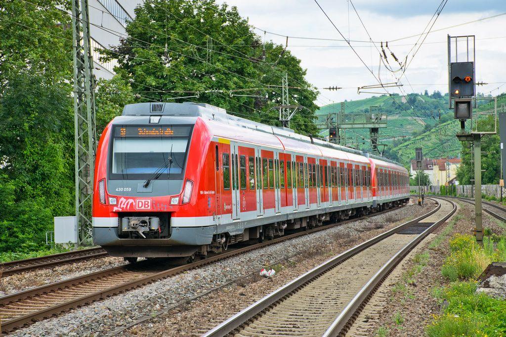 Alstom/Bombardier Emu, DB 430 059 at Mettingen, Baden-Württemberg in Germany