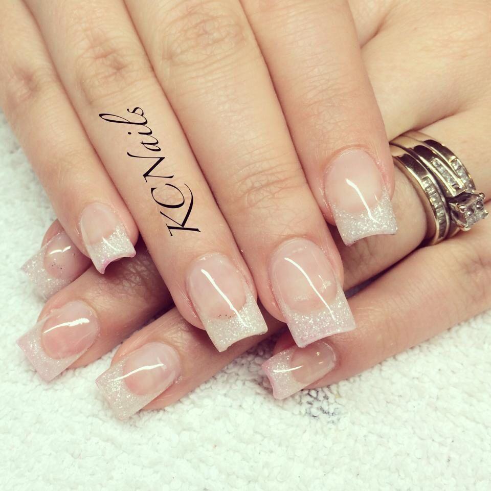 Pink and white nails. French tips, wedding nails KCNails | Nail Tech ...