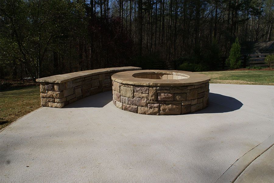 Project Gallery Stone Fire Pit Fire Pit Rustic Fire Pits