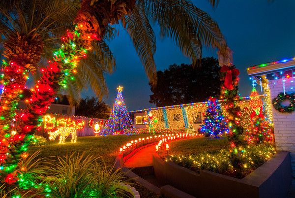 orlando christmas lights neighborhood