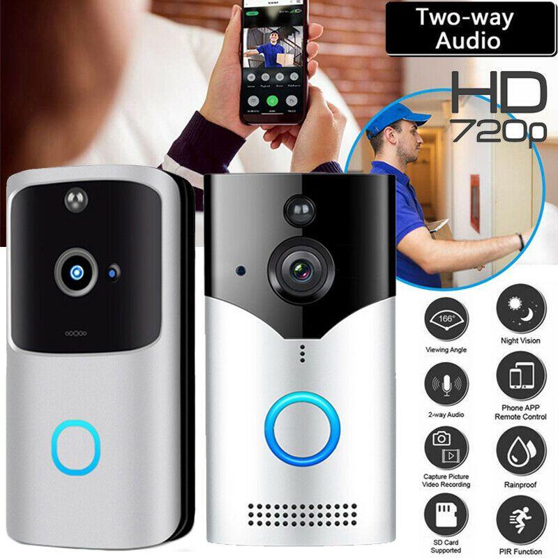 USA Smart WiFi Wireless Doorbell Video Intercom Camera Record Home Security Bell