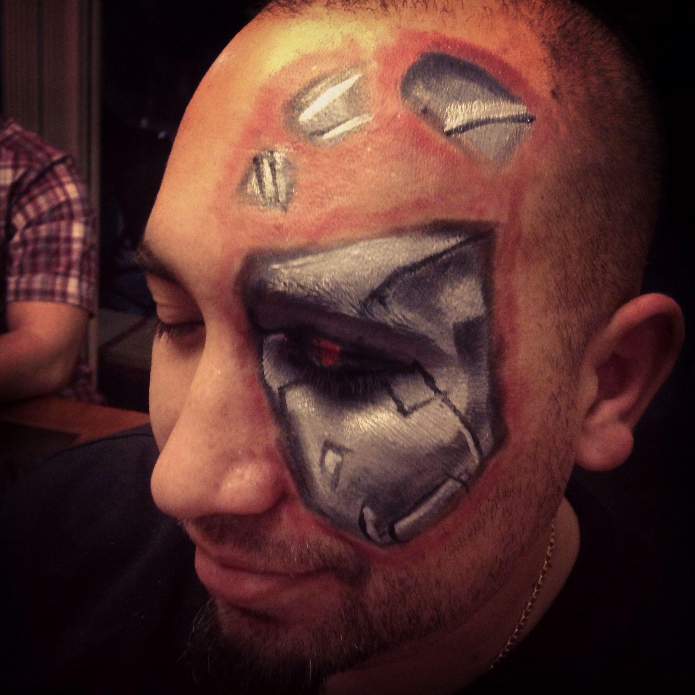 Terminator Makeup Robot Makeup