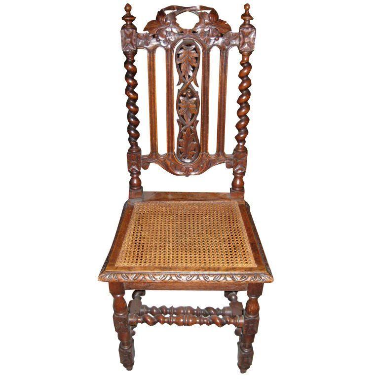 Barley Twist Chair - Beautiful English Antique Oak Barley Twist Secretary Drop Front Desk