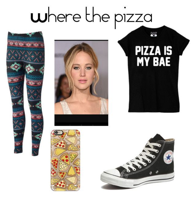 """""""Where the pizza"""" by aaliyahmermaid on Polyvore featuring Converse and Casetify"""