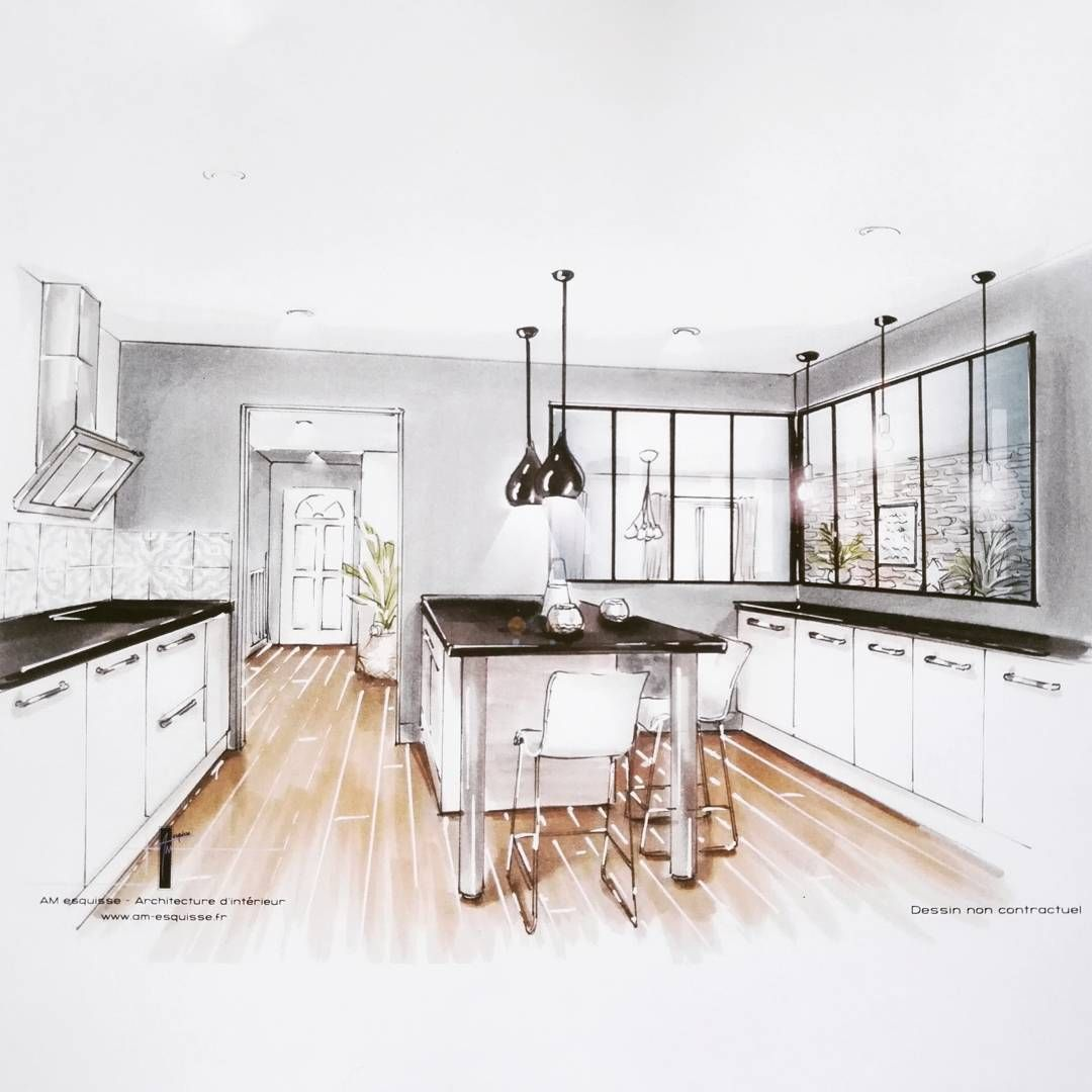 Petite Cuisine Du Jour Pour Terminer La Semaine Amesquisse Architectedinterieur Architectureinterieur Poit Cuisine Dessin Maison Dessin Dessin Decoration
