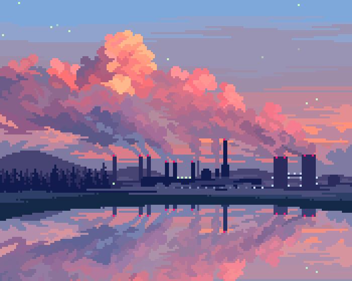 soapH (@soapdpzel) / Twitter in 2020 | Pixel art landscape ...