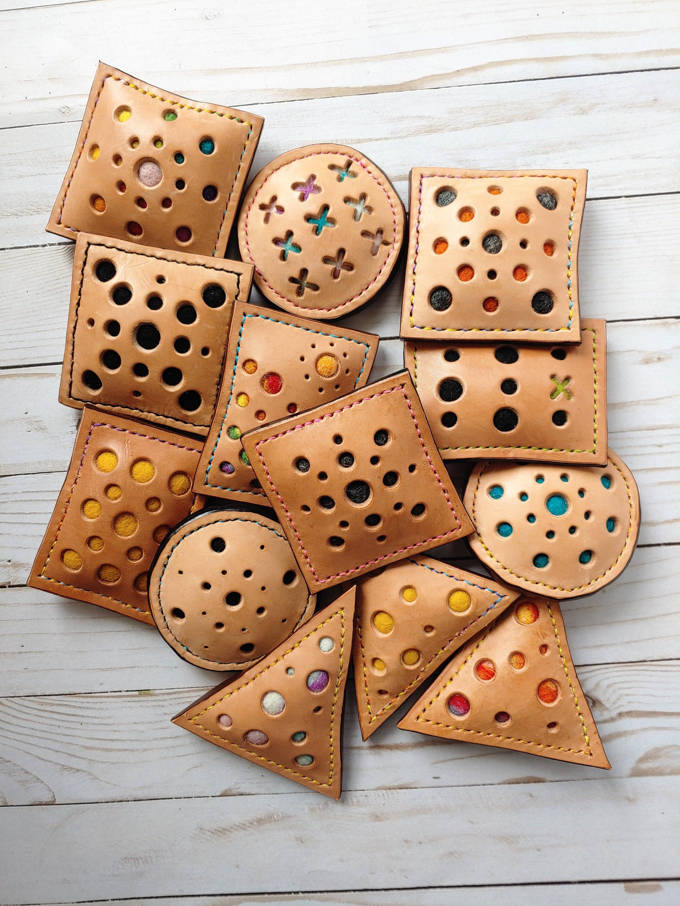 Handcrafted Stitched Goods and Leather Pincushions by GAndTheBear