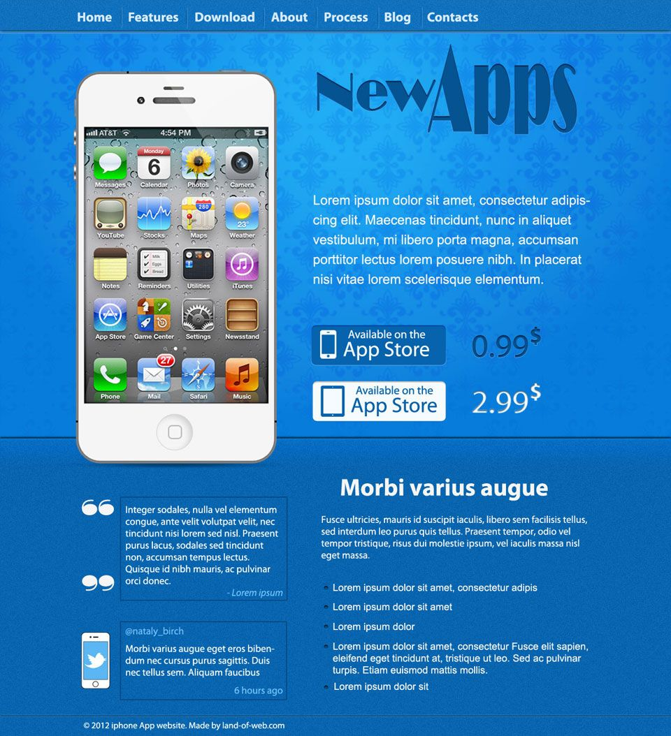 Website Layout Template Freebie Iphone App Website Layout  Free Psd Templates