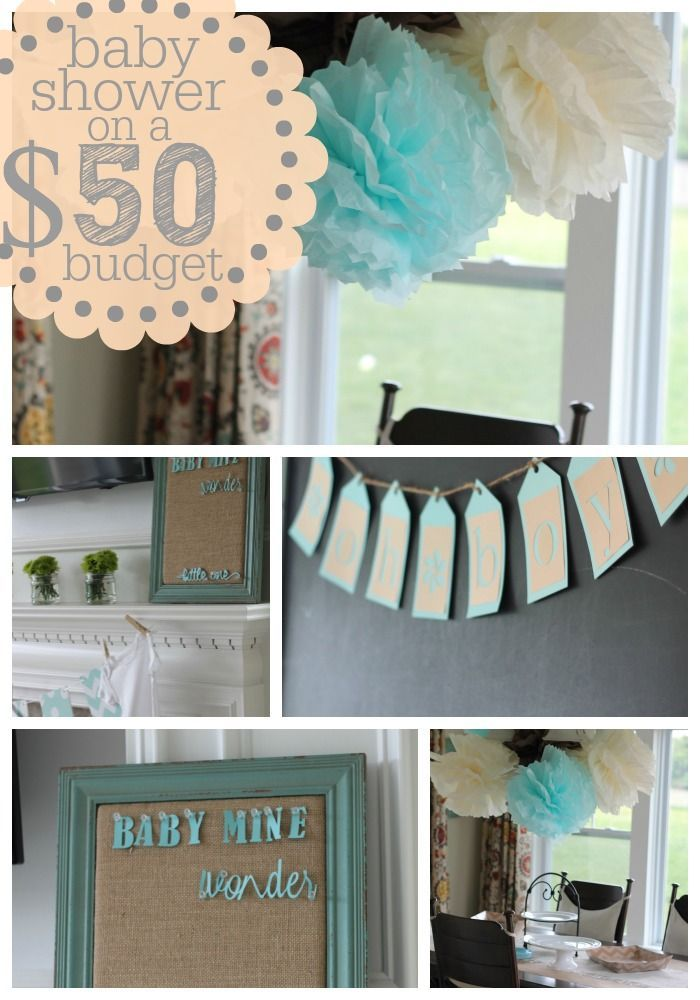 Baby shower ideas on a low budget