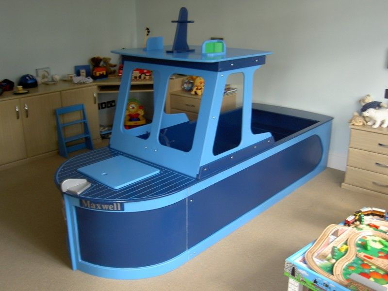 Toddler bed boat boys beds nautical beds boat bed toddler room ideas pinterest toddlers - Toddler beds for boys ...