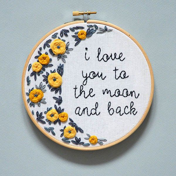 Hand embroidery patterns for Mother's Day