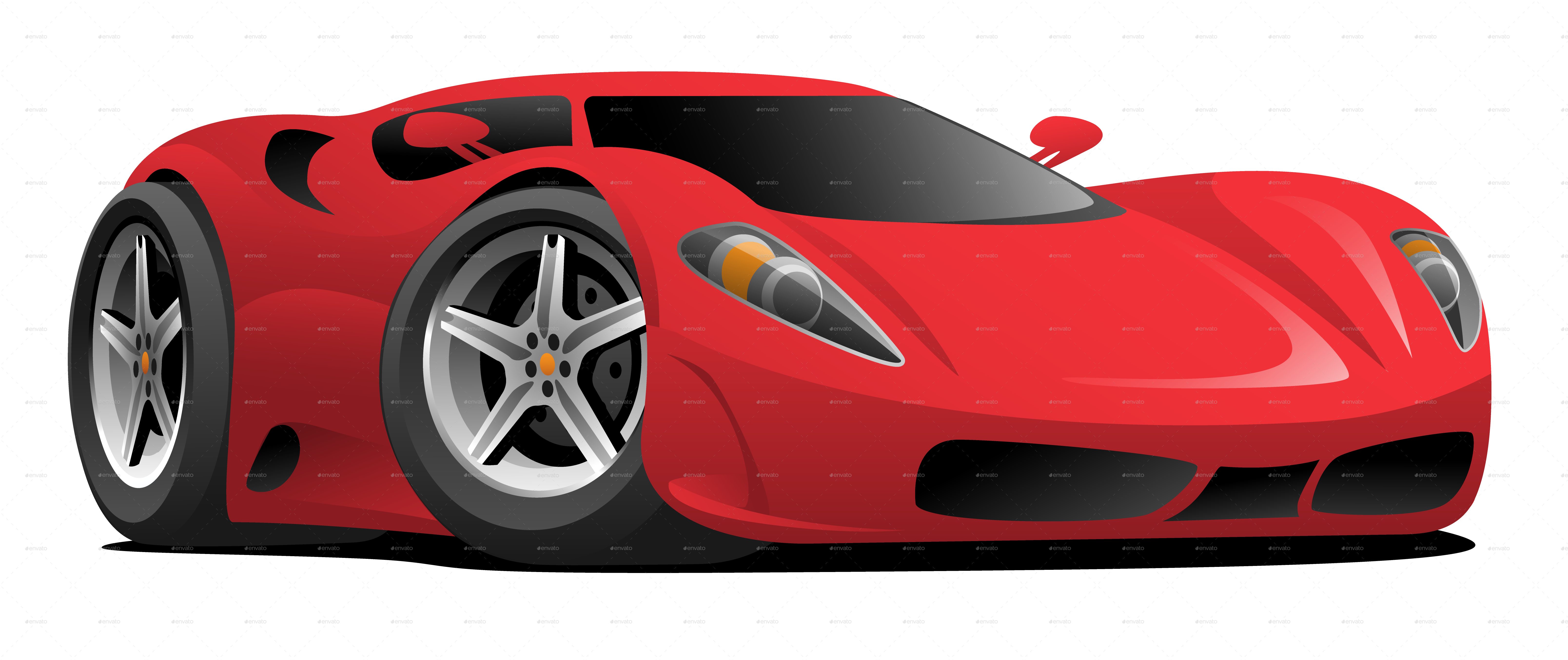 Red Hot European Style Sports Car Cartoon In 2020 Car Cartoon Sports Car Car