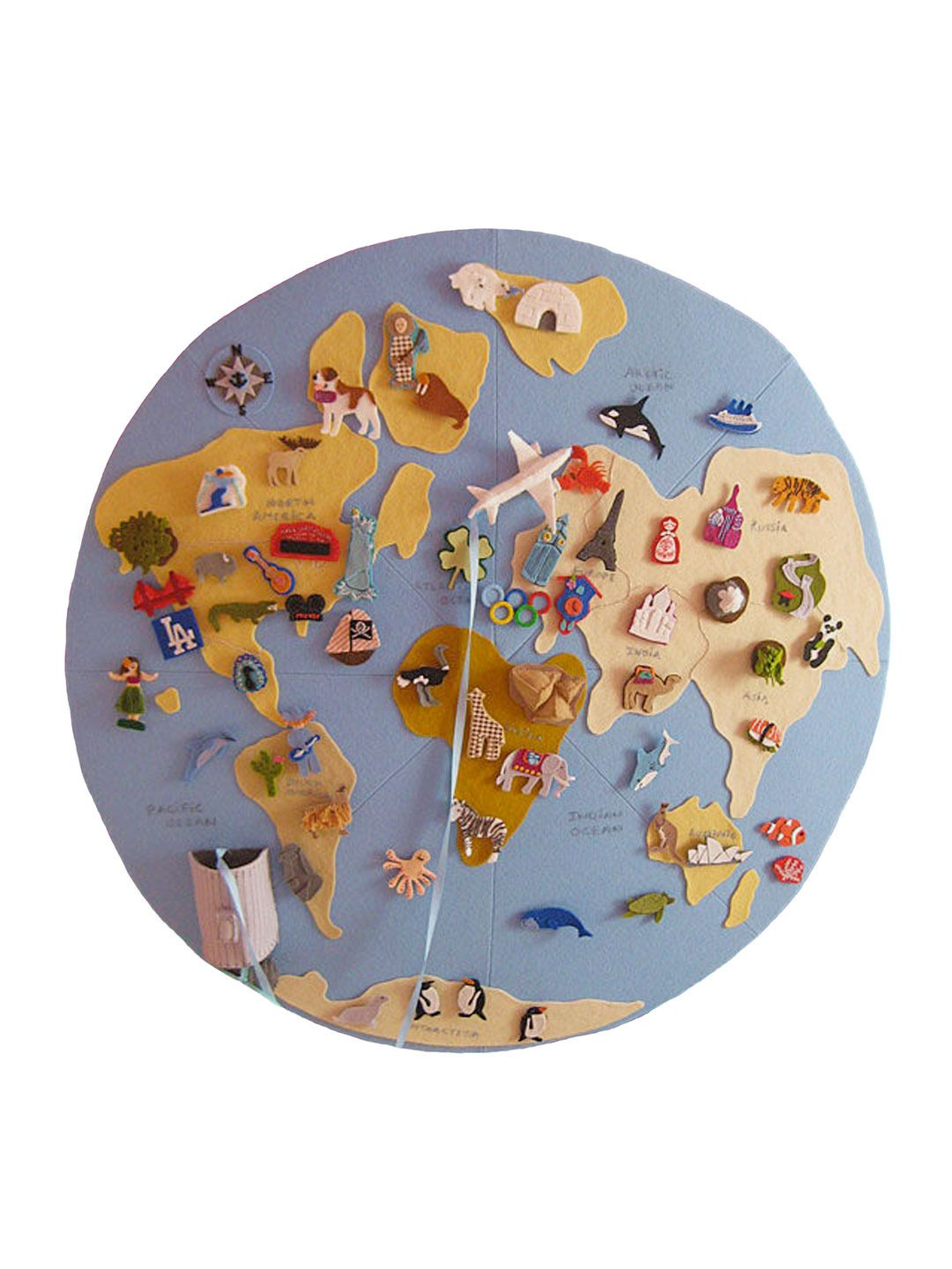 Felt globe movable pieces jen talbot playroom pinterest world missions diy felt globe check this link also for ideas on neighborhood maps us missions and other cute travel craft ideas gumiabroncs Images
