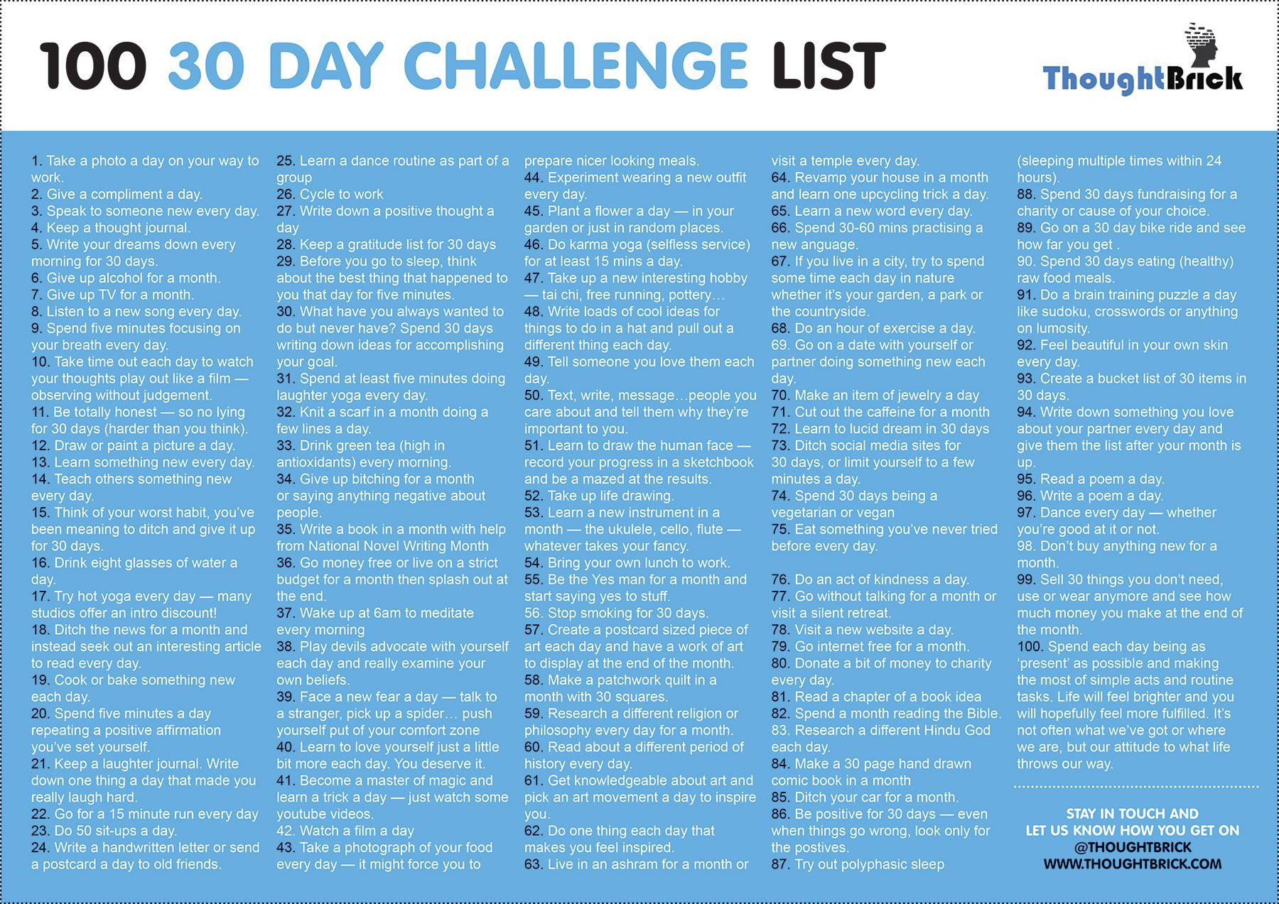 30 day challenge list bullet journal pinterest success choices and 30th. Black Bedroom Furniture Sets. Home Design Ideas