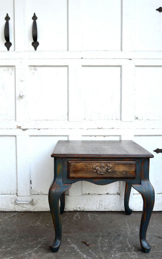 Recycled and refashioned rustic blue and antique green ...