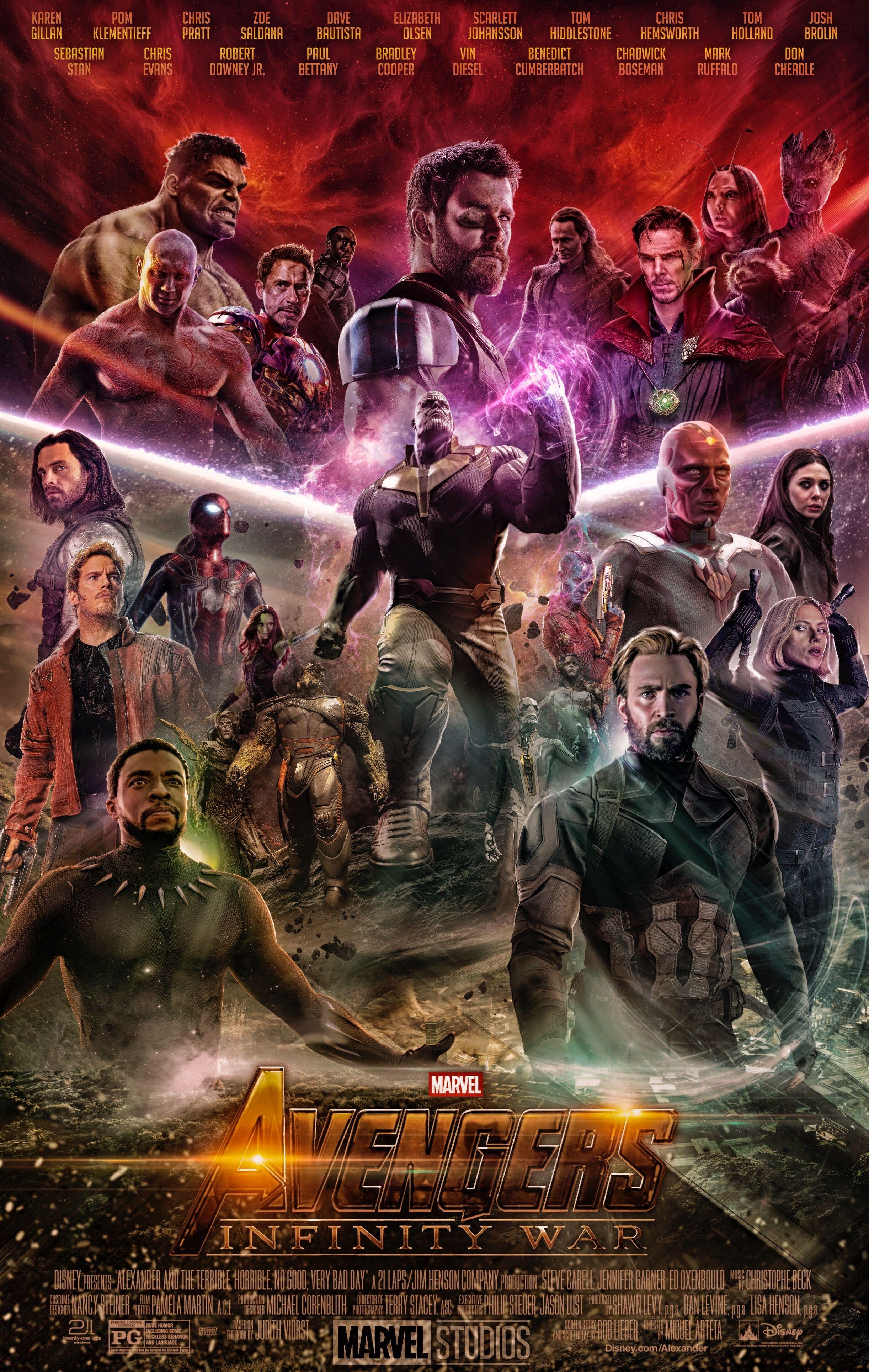Avengers Infinity War Poster 2018 Marvel superheroes