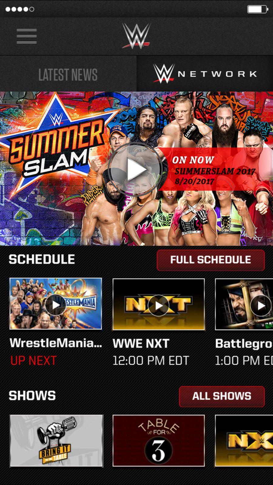 WWE iosSportsappapps Wwe, Sports app, Summerslam