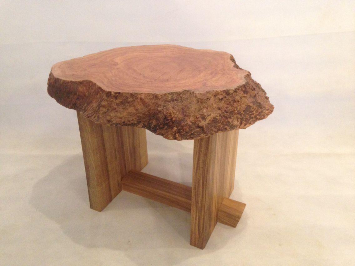 Tea tree burr side table. | Side table, Table, Zen furniture