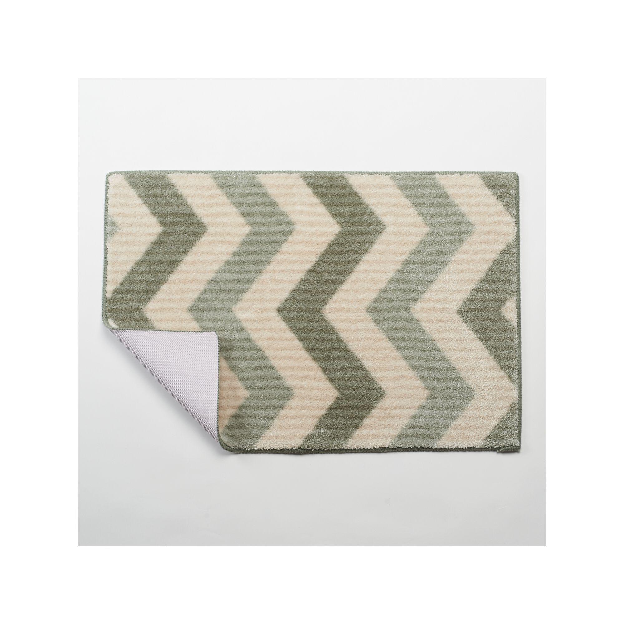 maples rugs layla chevron bath rug - 20'' x 30'', green | 20