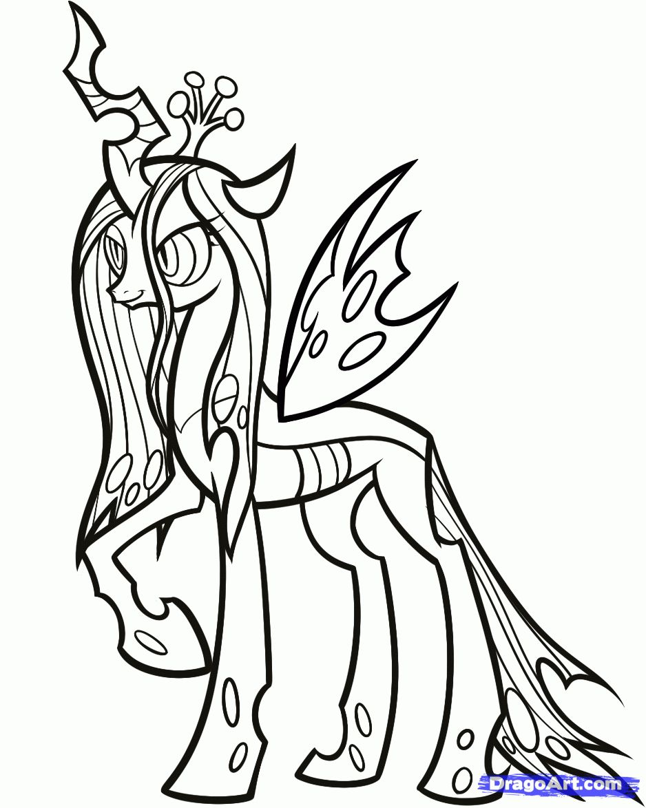 Queen of Equestria MLP My little pony coloring, Horse