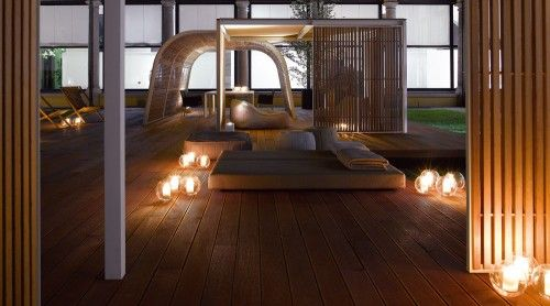 cabin style outdoor room structure idea