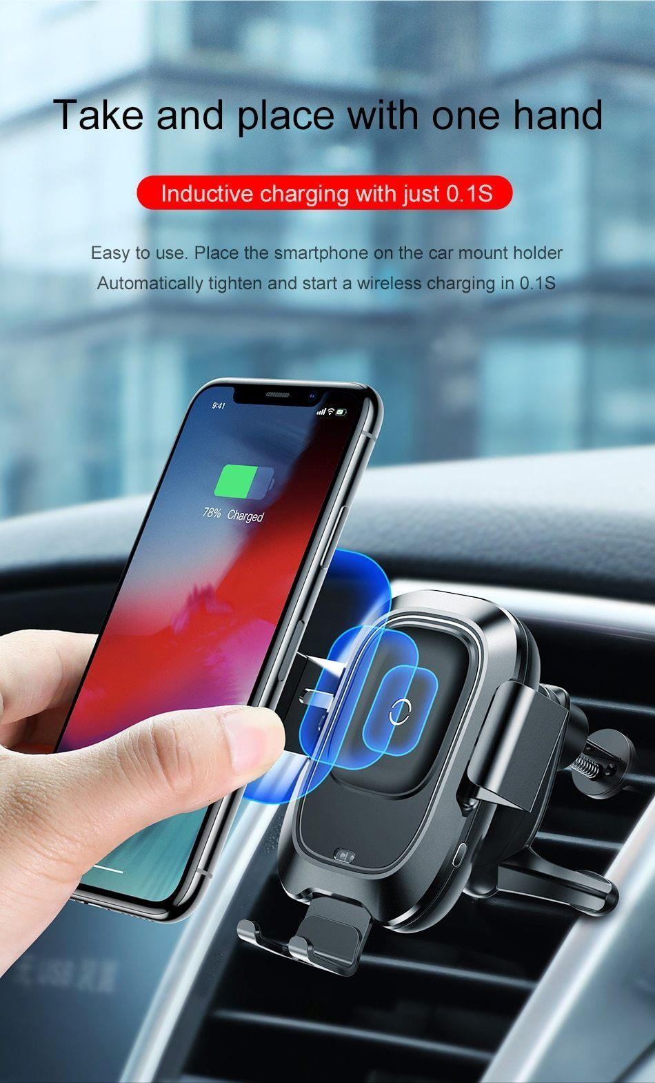 2 in 1 Car Mount and Charger compatible with iPhone 11