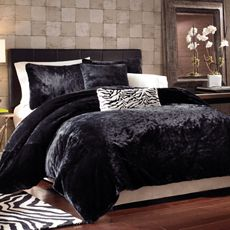 Panther Black Faux Fur Queen Full Duvet Cover Set Duvet Cover Sets Queen Bedding Sets Bed