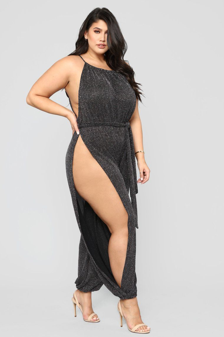 ea30170442c Wish Upon A Star Glitter Jumpsuit - Black in 2019