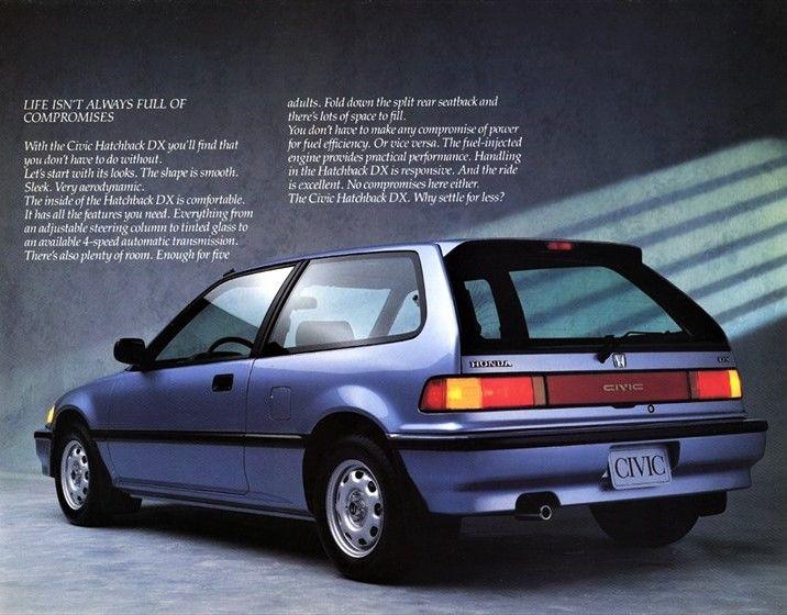 Honda Civic Hatchback 1989 1991 Honda Civic Civic Hatchback Honda Civic Hatchback