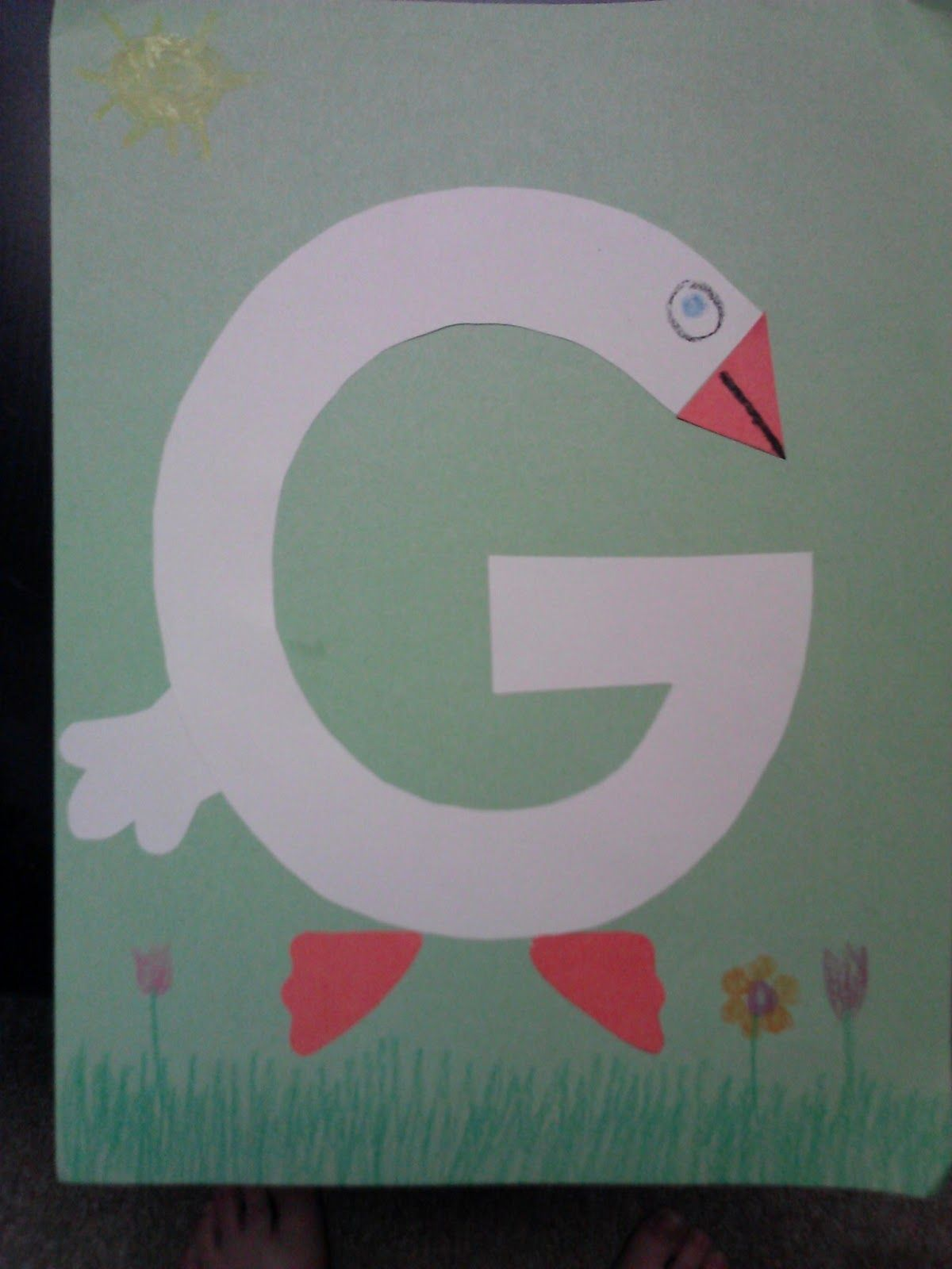 G Is For Goose Story Time Craft