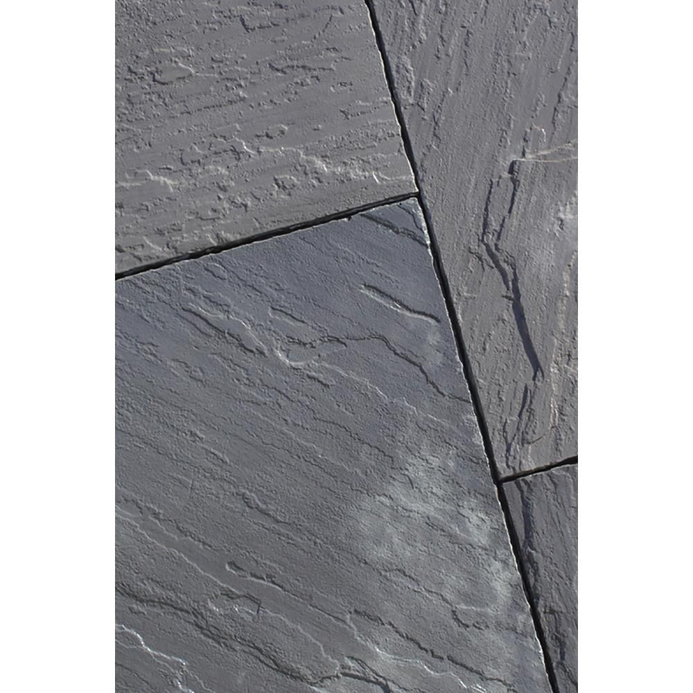 Silver Creek Stoneworks Slate 12 In X 12 In X 1 5 In Bluestone Concrete Paver 48 Pieces 48 Sq Ft Pallet S31212048 In 2020 Patio Tiles Concrete Pavers Paver Walkway
