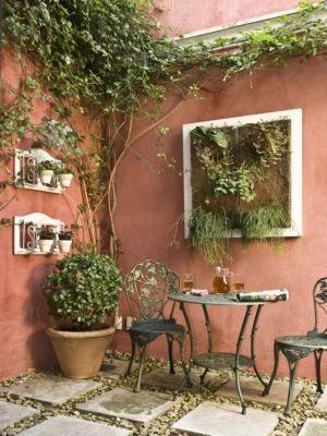 Varandas   Jardins pequenos, Jardins rústicos, Jardim toscano
