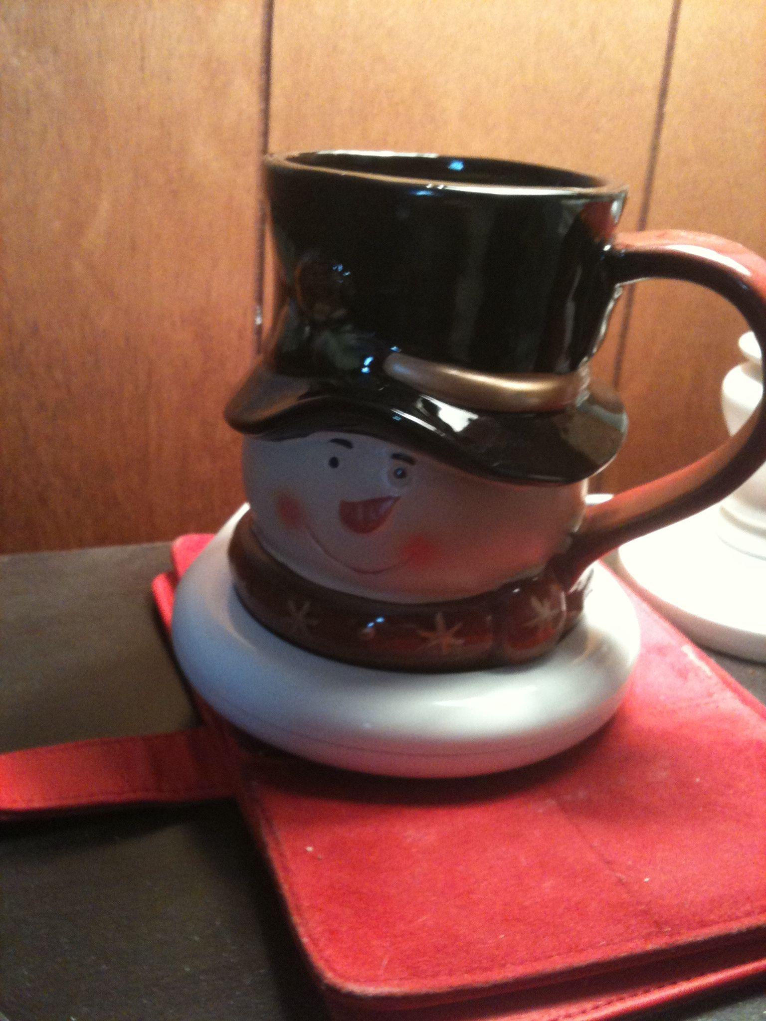 Use a candle warmer to keep your coffee warm! Sometimes i