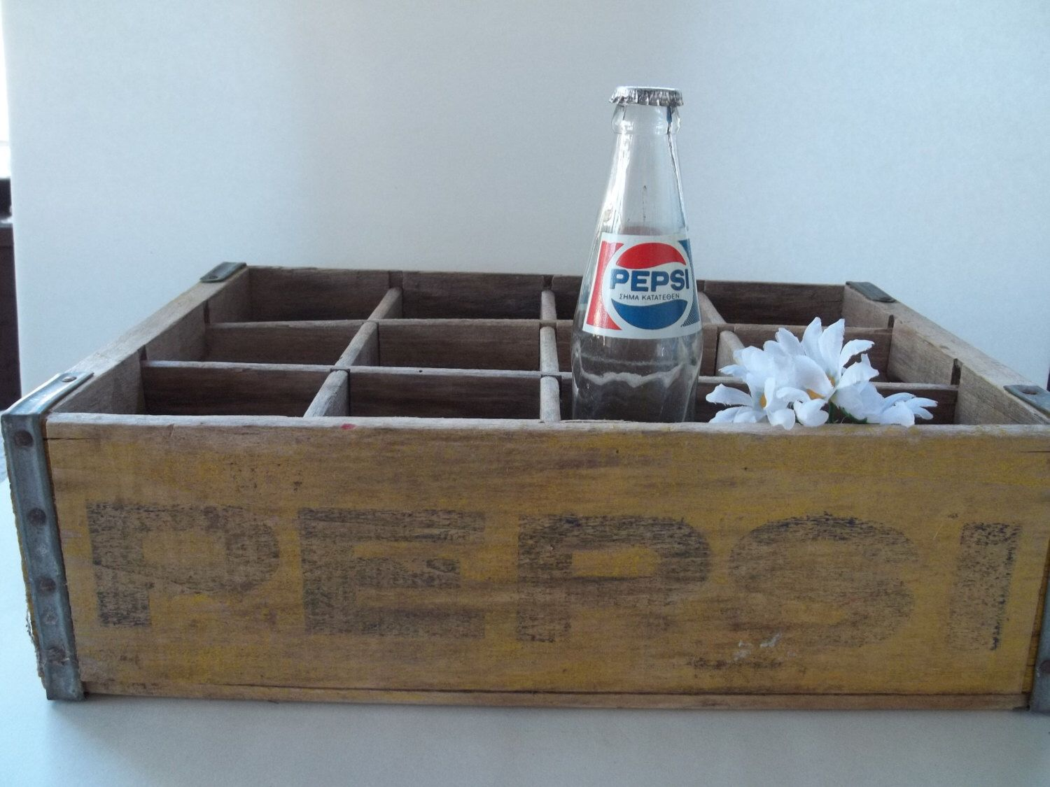 Pepsi Crate~~Wooden~Holds 12~~~Weathered and Rustic by MemoriesAmore on Etsy https://www.etsy.com/listing/240148462/pepsi-cratewoodenholds-12weathered-and