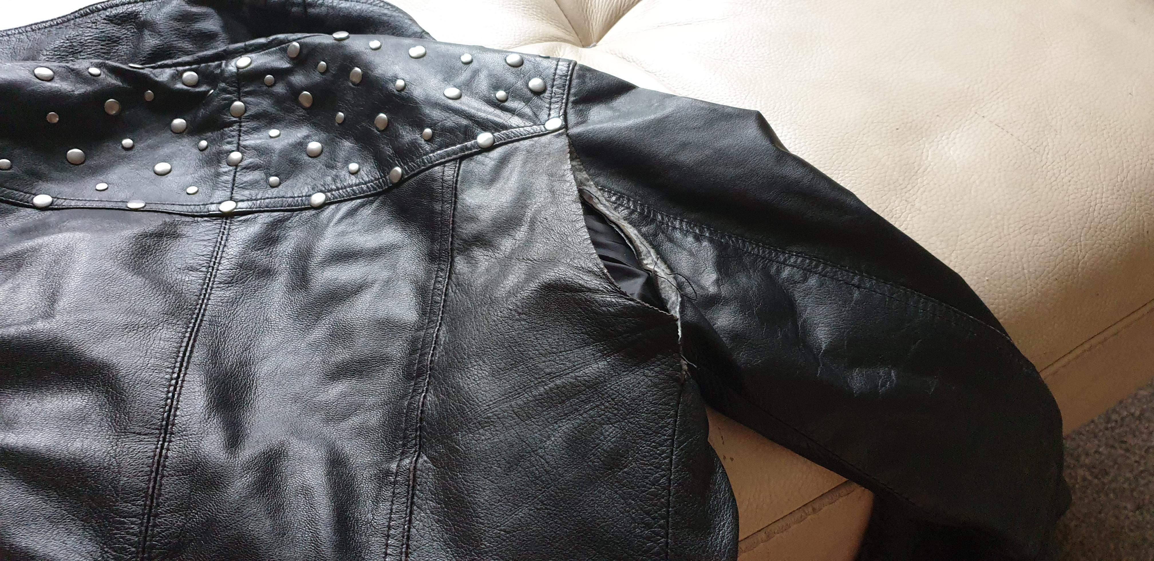 How To Fix A Rip In A Real Leather Jacket With Little To No Sewing Skills Can I Slap On A Rock Band Patch On Real Leather Jacket Ripped Jacket [ 1960 x 4032 Pixel ]