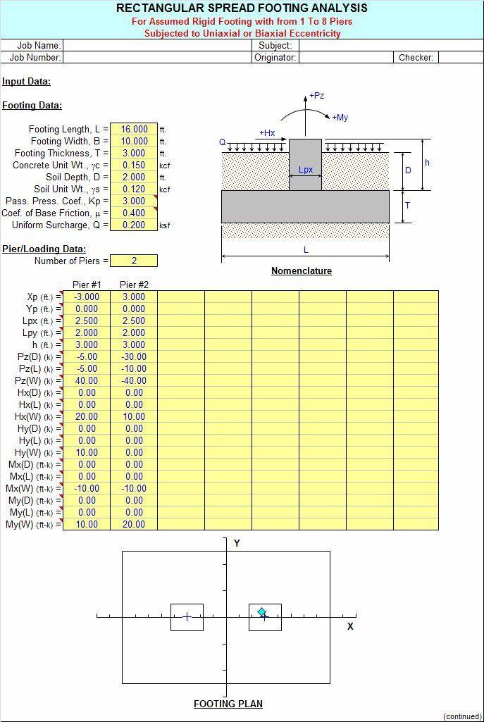 FOOTINGS by Alex Tomanovich - FOOTINGS is a spreadsheet program