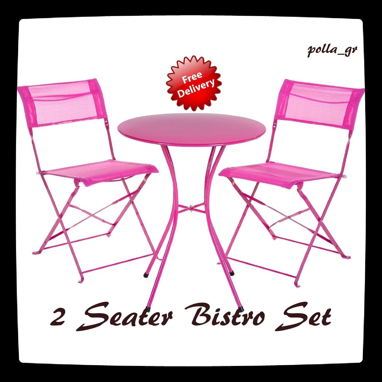 Details About Bistro Table Patio Set Garden Furniture 2 Seater Chairs  Outdoor Dining Balcony N